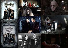 1990's Addams Family Films, Starring : Raul Julia, Angelica Houston, Christopher Lloyd, Christina Ricci