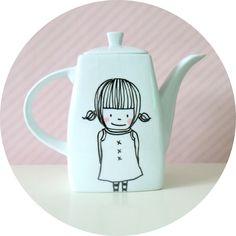 koffie/theepot cute girl