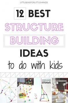 Best Structure Building Activities to do with preschool, kindergarten, and  grade school age kids. Try these STEM challenges and engineering projects with simple materials.
