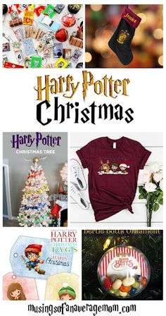 Everything you need for a Harry Potter Christmas including DIY ornaments, free printables and more! Harry Potter Gift Box, Harry Potter Potion Labels, Harry Potter Notebook, Harry Potter Candy, Harry Potter Banner, Harry Potter Pillow, Harry Potter Bookmark, Harry Potter Crochet, Harry Potter Sorting Hat