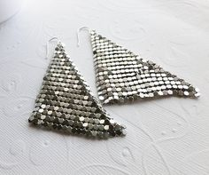 Silver Mesh Earrings
