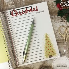 Christmas To Do List by Laurie Willison for Papertrey Ink (December 2016)