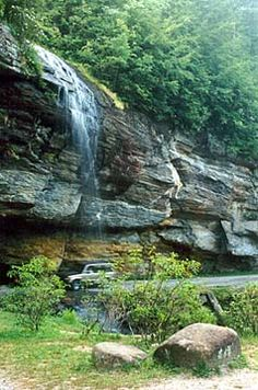 Bridal Veil Falls near Highlands, NC - hopefully headed here this weekend :)