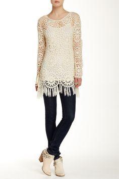 a770bd46c9b8 Crochet Sweater by Blu Pepper