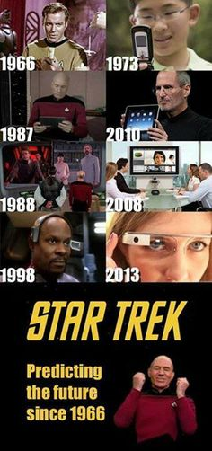 Funny pictures about The writers of Star Trek must have had a time machine. Oh, and cool pics about The writers of Star Trek must have had a time machine. Also, The writers of Star Trek must have had a time machine. Science Fiction, Science Humor, Science Facts, Star Trek Voyager, Star Trek Enterprise, Stargate, Star Trek Humor, Star Trek Quotes, Nave Enterprise