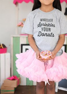 Sprinkles your Donut T-shirt by mudpuddlesdandelions on Etsy