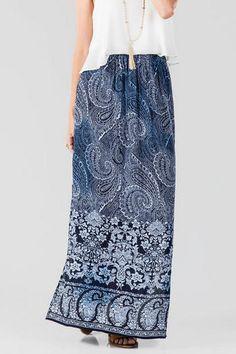 Malibu Paisley Maxi Skirt