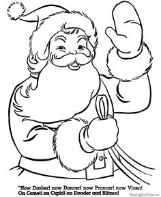 Santa Claus Rise of the Guardians Printable Coloring Page
