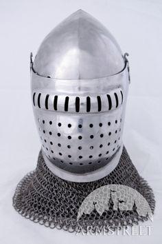 Great quality handmade 14 ga grand bascinet helmet for sale