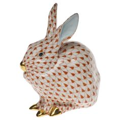 Sitting Bunny | Farm Figurines | Herend Figurines | Collectibles | ScullyandScully.com