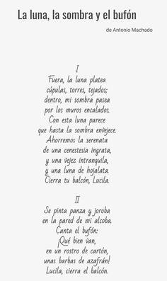 """Este poema fue publicado en el año 1924 por Antonio Machado y se encuentra en el interior de """"Nuevas Canciones"""", lo hemos seleccionado porque a nuestro parecer, nos encontramos ante uno de los poemas más representativos de este libro."""