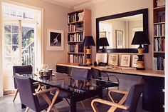 Architect's Office - Lee Ledbetter & Associates    Nautral wood and black office