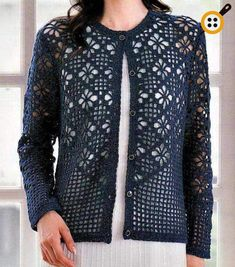 Crochet Sweater: Cardigan - Crochet Cardigan Pattern I feel like this is a sweater for a thin person with no boobs but I would really love to adapt it as a wrap or scarf. Source by crochet Black Crochet Dress, Crochet Coat, Crochet Tunic, Crochet Jacket, Crochet Clothes, Crochet Sweaters, Filet Crochet, Crochet Stitches, Easy Crochet