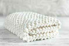 sweet knitted blanket