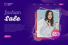 Portrait of woman fashion sale landing p... | Free Vector #Freepik #freevector Moda Instagram, Fashion Sale, Woman Fashion, Vector Portrait, Lorem Ipsum, Vector Free, Web Design, Company Logo, Landing