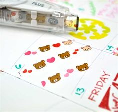 Simple and ready to use, this fun product features the fun and playful characters of Rilakkuma and his friends. The dispenser is easy to use - simply click and slide the dispenser across the page to decorate your papers with cute and fun designs!