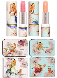 Alice in Wonderland Cosmetic packaging by Paul & Joe. For the child at heart. Good packaging inspires and delights. Mac Makeup, Makeup Lipstick, Beauty Makeup, Makeup Kit, Top Beauty, Gloss Lipstick, Lipsticks, Beauty Nails, Asian Beauty