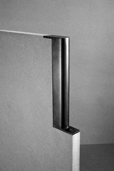 Tom Kundig, steel cabinet pull, steel, blackened, bronze, stainless steel, handcrafted, modern design, Olson Kundig, steel design, steel door hardware