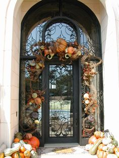 Gorgeous For Fall... Robert Lawrence Designs. Fall Front Doors, Front Door