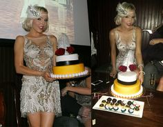Great Gatsby Party Birthday Cake  The Haute Blonde- Fashion & Beauty Blog: My 20's themed birthday party  1920's, prohibition, gangster, flapper