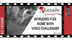 These intruders flee when voice challenged. (Voice simulation for storytelling effect) Footage from Macado Technolo. Security Technology, Storytelling, The Voice, Challenges, Watch, Videos, Clock, Video Clip