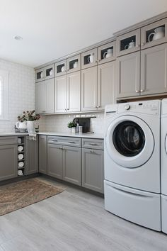 New Painted Furniture Colors Benjamin Moore Revere Pewter Ideas Large Laundry Rooms, Laundry Room Organization, Laundry Room Design, Design Kitchen, Laundry Room Colors, Laundry Room Tile, Laundry Area, Laundry Closet, Small Laundry