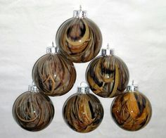 Camo Dipped Christmas Ornaments