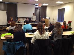 Jo Ann Skinner at the panel discussion summary of ADHD in the Workplace on Jan 10, 2015