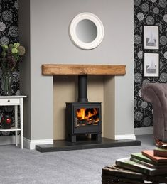 Colour for dining room? With soft furnishings and curtains and rug in colours from the autumn palette ideas log burner ACR Malvern Eco Design Ready Stove Wood Fuel, Wood, Log Burner Fireplace, Living Room Diy, Living Room With Fireplace, Living Room Designs, Wood Burning Stoves Living Room, Fireplace, Room Design
