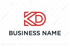 Logo for sale: Letter Kd Logo Unique letter KD combination using monoline design technique. Suitable for serious company such as construction, business consulting and financial. wordmark lettermark insurance Stationary Publishing Advertising Accounting Equipment rentals leasing Industrial Office Wholesale logo logos architecture