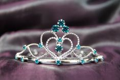 Beautiful Bridal Wedding Tiara Crown with Ocean Blue Crystal Party Accessories C16055 >>> Visit the image link more details.