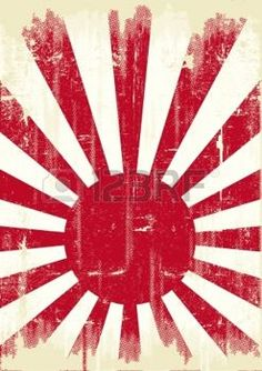carta giapponese: Una vecchia bandiera giappone grunge per voi