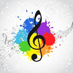 Find images and videos about music, color and clave de sol on We Heart It - the app to get lost in what you love. Music Pics, Music Images, Music Love, Music Stuff, Music Is Life, Good Music, Music Drawings, Music Artwork, Coordination Des Couleurs