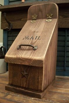 Rustic Wooden Mailbox by OneQuarterKen on Etsy