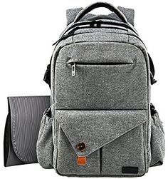 leke diaper bags grey baby backpack diaper bag back pack babies pinterest. Black Bedroom Furniture Sets. Home Design Ideas