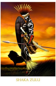 """Shaka Zulu  All prints are 11""""x17"""" unless otherwise specified.  Use the code """"buy2"""" and get any 2 prints for $30!  *All art is owned and copyrighted by Damon Bowie and Intense Yellow Productions. Any unauthorized usage of images without consent is prohibited. *"""