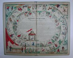 Game of the Goose (France, 1850).  Date