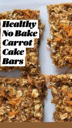 Healthy Bars, Healthy Dessert Recipes, Granola Bar Recipes, Healthy Baking, Healthy Homemade Granola Bars, Recipes With Dates Healthy, Healthy Breakfast Cookies, Vegan Banana Cookies, Homemade Oatmeal Bars