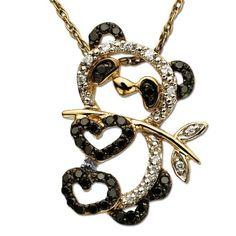 14K White Gold Panda Bear Pendant Jewels Obsession Panda Bear Charm Pendant 19 mm