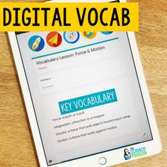 10 Ideas for Science Vocabulary Vocabulary Activities, Vocabulary Words, Learn Science, Force And Motion, Elementary Science, Student Learning, It Works, Names, Education