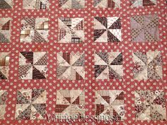 Exceptional EARLY Civil War Era ANTIQUE Pinwheel QUILT One for the Books! in Antiques, Linens & Textiles (Pre-1930), Quilts | eBay