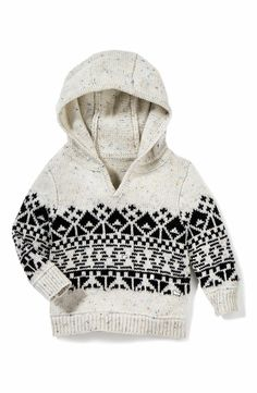 Main Image - Peek Benny Hooded Knit Sweater (Baby Boys)