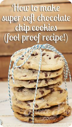 Foolproof Super Soft Chocolate Chip Cookie recipe. I used to think that I made awesome chocolate chip cookies. But now… I have to say that this is my favorite cookie recipe!  This super soft chocolate chip cookies recipe is to die for.