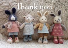 Mesmerizing Crochet an Amigurumi Rabbit Ideas. Lovely Crochet an Amigurumi Rabbit Ideas. Knitted Stuffed Animals, Knitted Bunnies, Knitted Animals, Knitted Dolls, Crochet Dolls, Knitting Blogs, Knitting Projects, Baby Knitting, Little Cotton Rabbits