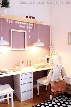 langer Schreibtisch für zwei Arbeiten ✽ Maditas Haus