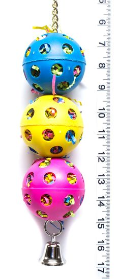 Foraging Ball Stack Parrot Toys & Bird Toy Parts by A by abirdtoy