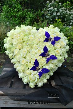 Eternal Simple Clean And From The Heart Flower Arrangements Ideas Funeral Flowers Casket. Casket Flowers, Funeral Flowers, Wedding Flowers, Bouquet Flowers, Silk Flowers, Orchid Flowers, Wedding Bouquet, Arrangements Funéraires, Funeral Floral Arrangements