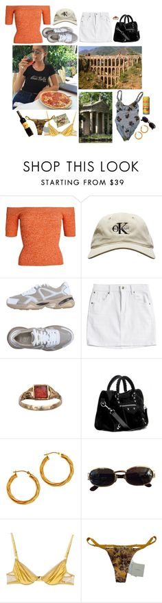 """""""baby i'm in rome"""" by dalles ❤ liked on Polyvore featuring Puma, Balenciaga, Versace, Ermanno Scervino Lingerie, La Perla, MANGO, travel, Italy, Europe and rome"""