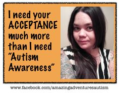 #AutismAccpetance this April see more images at https://www.facebook.com/media/set/?set=a.704826769560865.1073741827.342395582470654&type=1