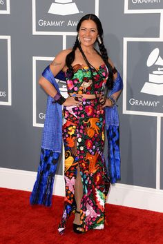THIS IS GORGEOUS!!!    I MUST wear this at one point in my life    Lila Downs   Fashion At The 2013 Grammy Awards